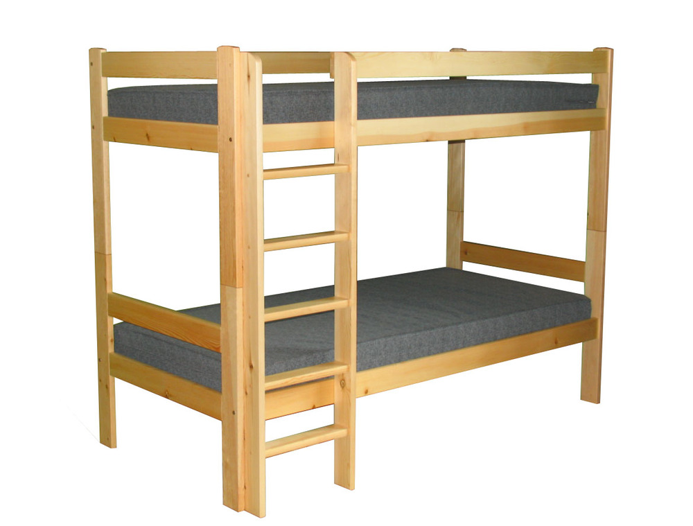 Bunk bed patr cija 90x200 natural for Couch 90x200