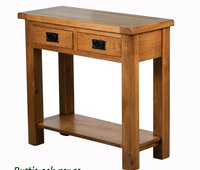 Oak console table Rustic